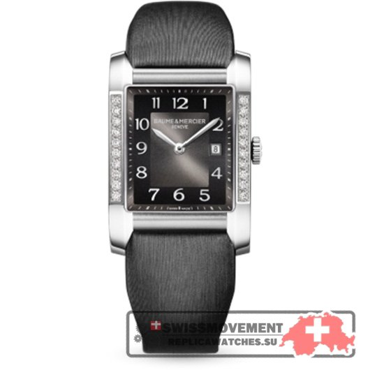 Baume & Mercier Hampton Lady Black / Vertical Diamonds (10022)