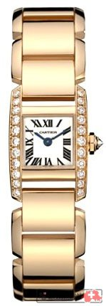 Cartier Tankissime 18kt Rose Gold Diamond Ladies Watch WE70058H