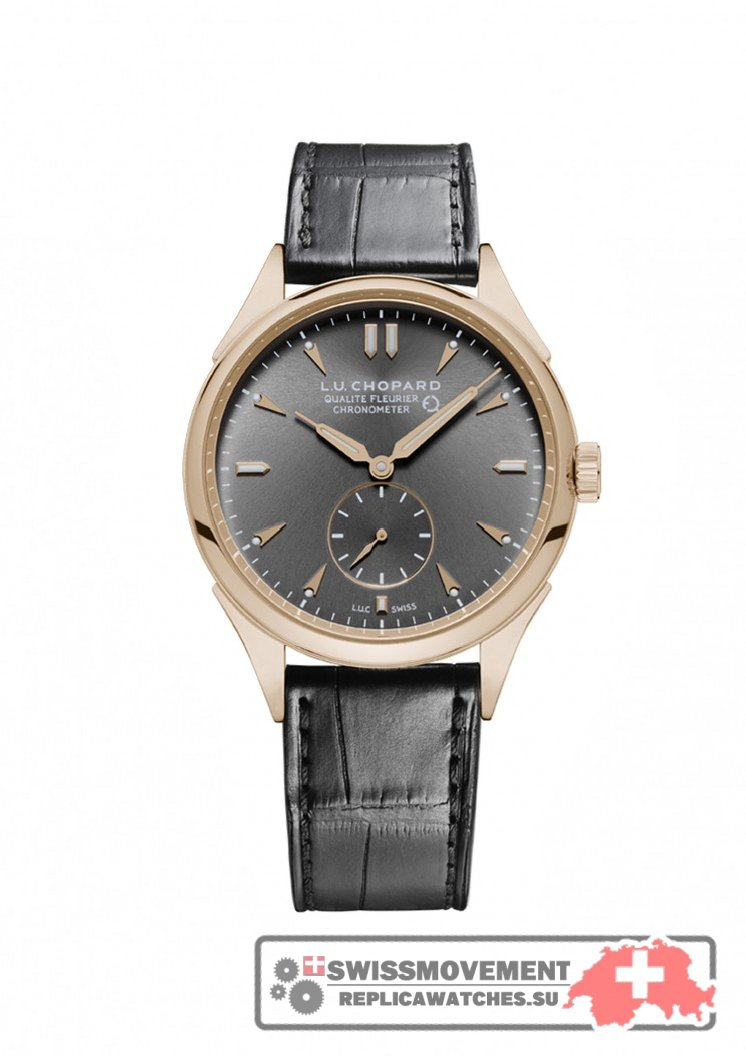 Chopard L.U.C Qualité Fleurier Rose Gold / Grey (161896-5003)