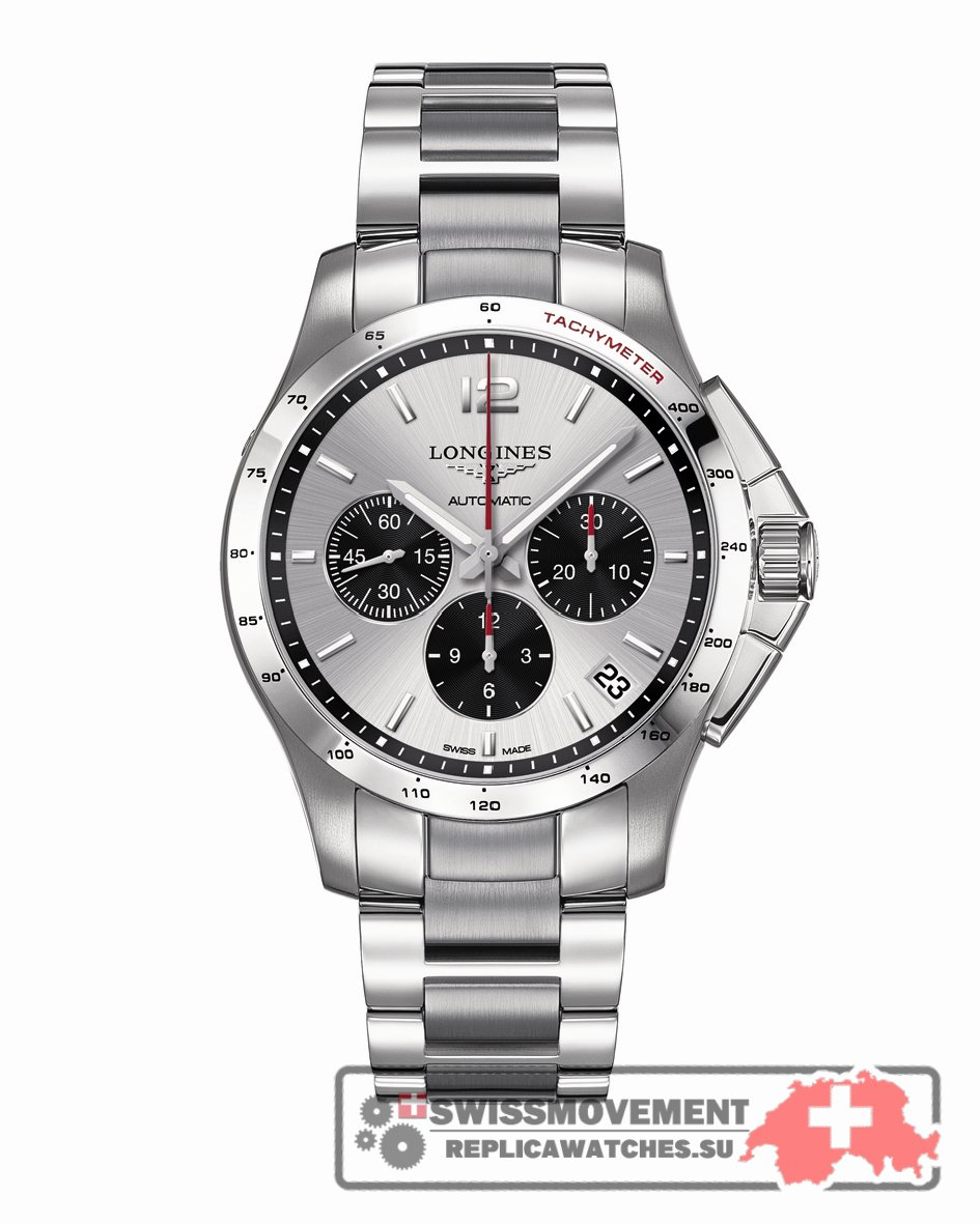 Longines Conquest Chronograph Automatic 44.5mm Silver Panda (L3.697.4.06.6)