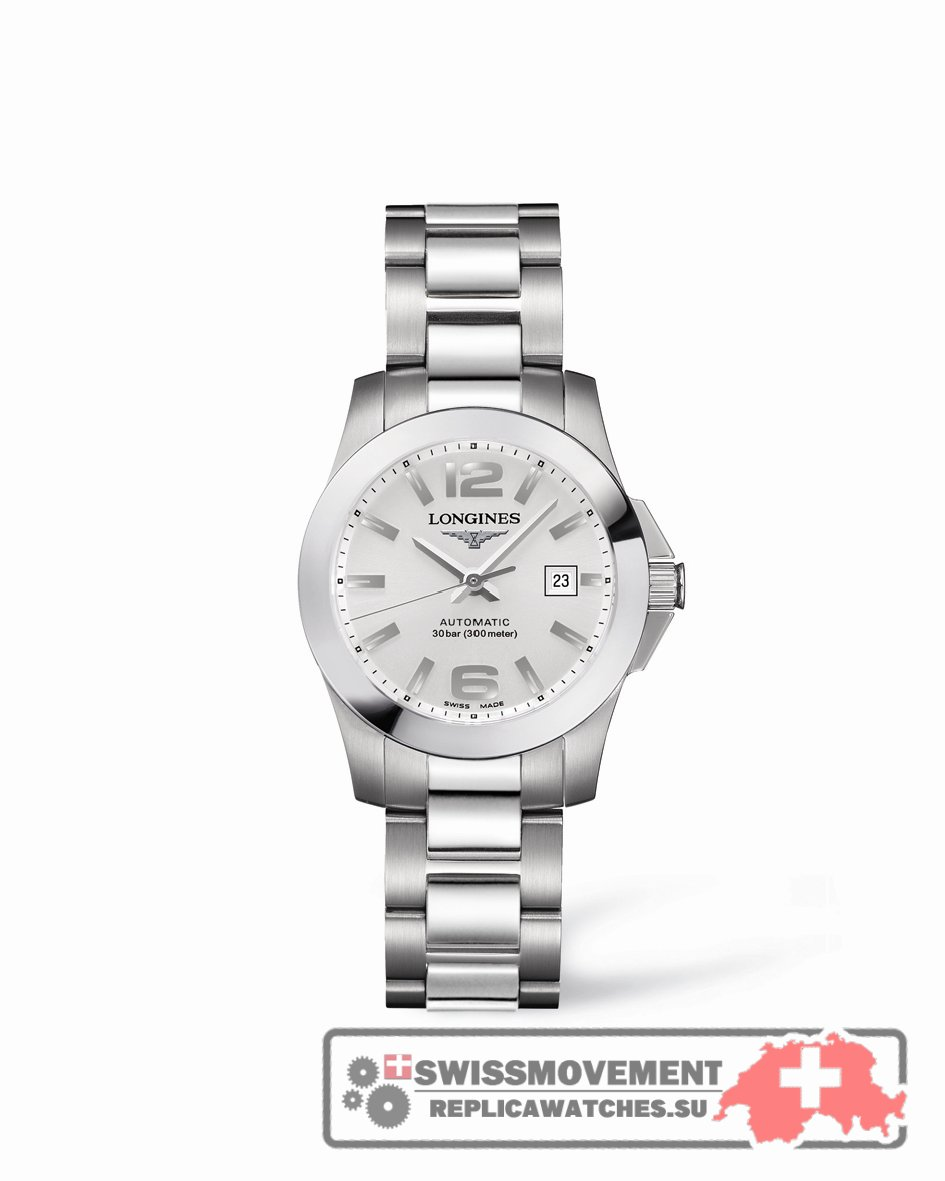 Longines Conquest 29.5 Automatic Stainless Steel Silver (L3.276.4.76.6)