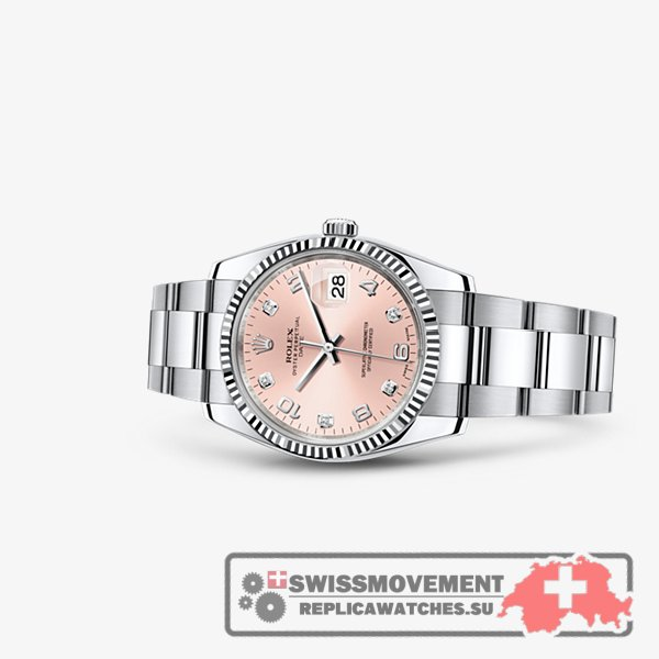 Rolex Oyster Perpetual Date 34 Fluted Pink (115234-0009)