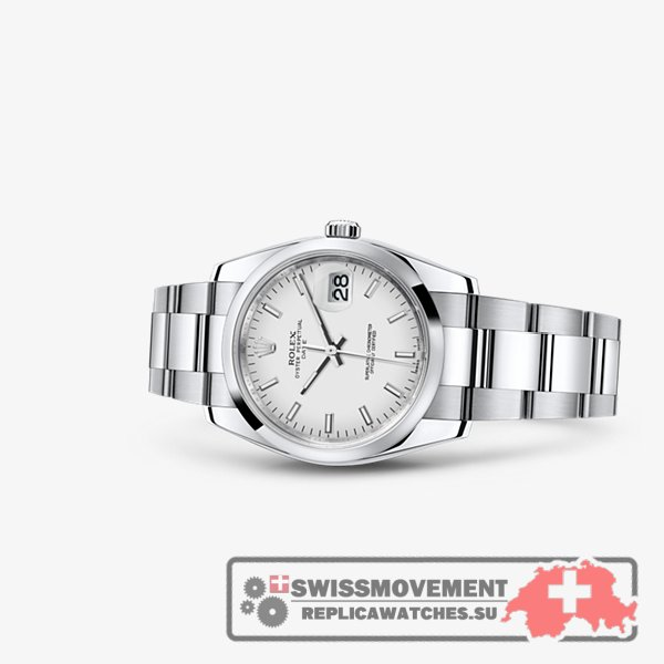 Rolex Oyster Perpetual Date 34 White (115200-0008)