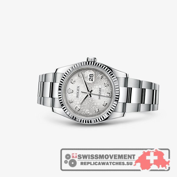 Rolex Datejust 36 Fluted Oyster Silver Computer (116234-0135)