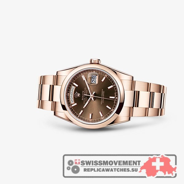 Rolex Day-Date 36 Everose Domed Oyster Chocolate (118205f-0127)