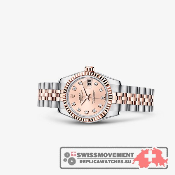 Rolex Lady-Datejust 26 Rolesor Everose Fluted Pink Jubilee (179171-0018)