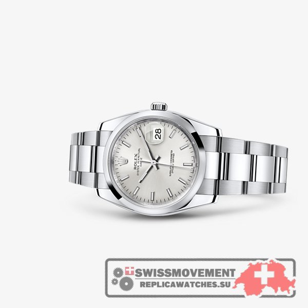 Rolex Oyster Perpetual Date 34 Silver (115200-0006)